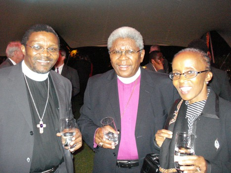 Click the image for a view of: Bishop Malusi Mpumlwana (HSRP Board member) & Mrs Mpumlwana with the Archbishop